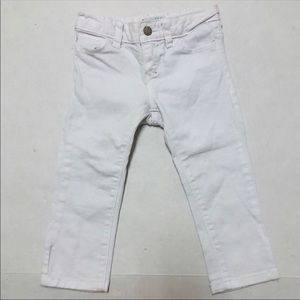 5/$25 Old Navy girls slim straight white jeans 5